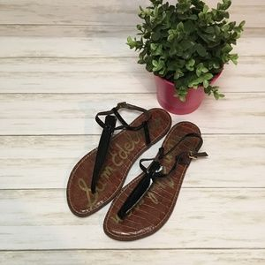 Sam Edelman Black Patent Leather Gigi Sandals